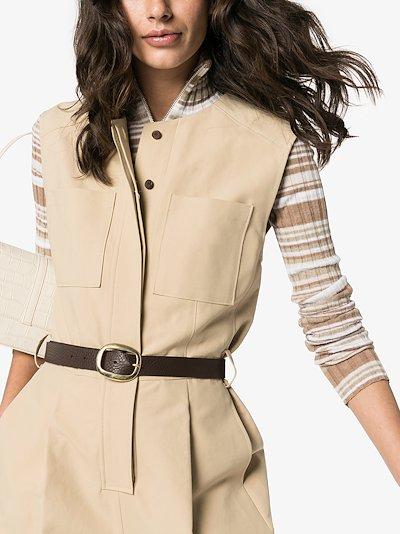 brown Harper leather belt