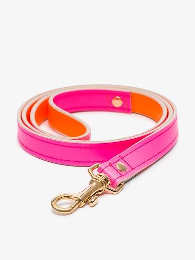 pink and orange Jamie leather leash