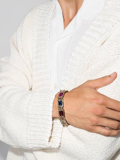 9K yellow gold Rose sapphire bracelet