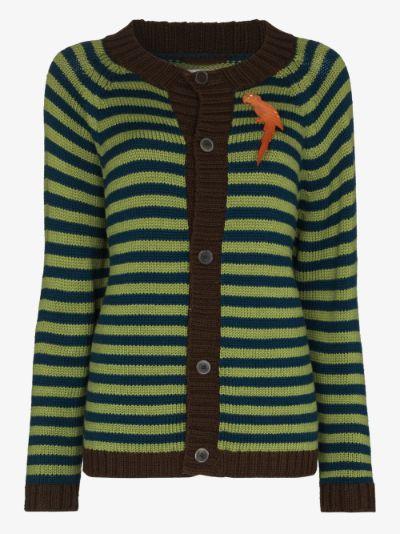 Striped button-down cardigan