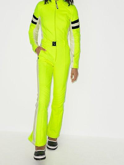 stripe detail ski suit