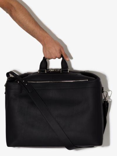 Black Weekender Leather Holdall Bag
