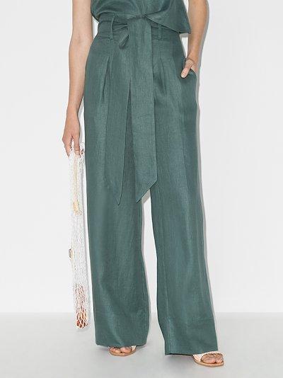 Fancy wide leg linen trousers