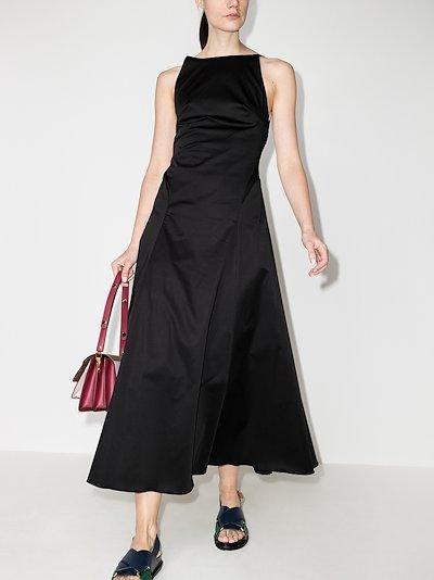 Rouleau Open Back Midi Dress