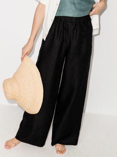 universal wide leg linen trousers