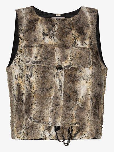 Atlas faux fur vest