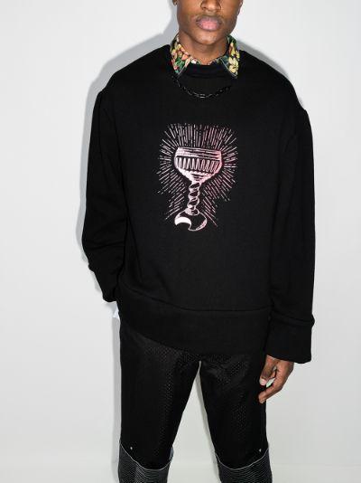 Monk print cotton sweatshirt