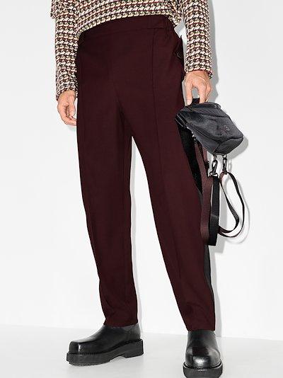 tuxedo stripe wool trousers