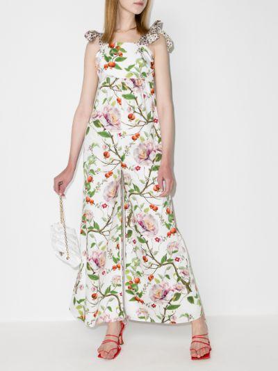 Caro sleeveless floral jumpsuit