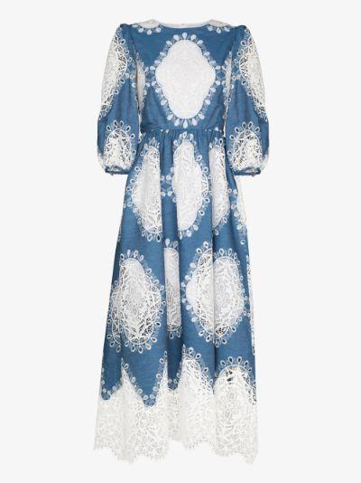 Constance balloon sleeve cotton maxi dress