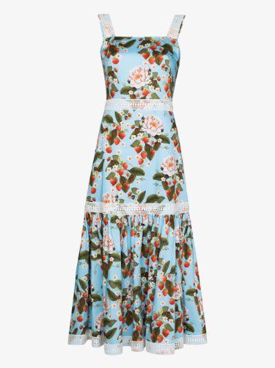 Cordelia sleeveless tiered midi dress