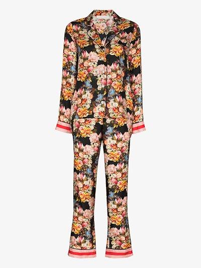 Eden floral silk pyjamas