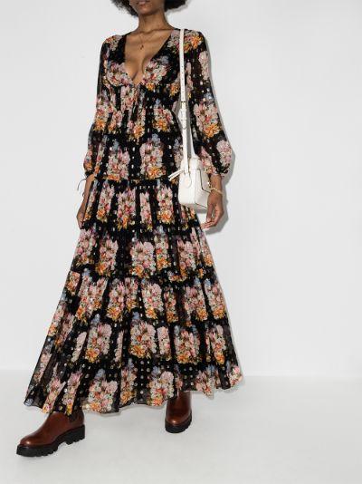 Freya floral maxi dress