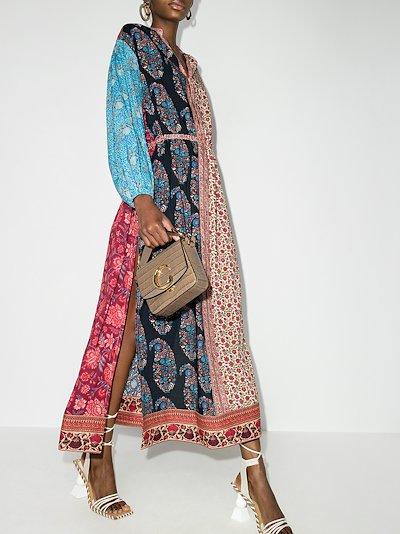 Darya patchwork Smock Maxi Dress
