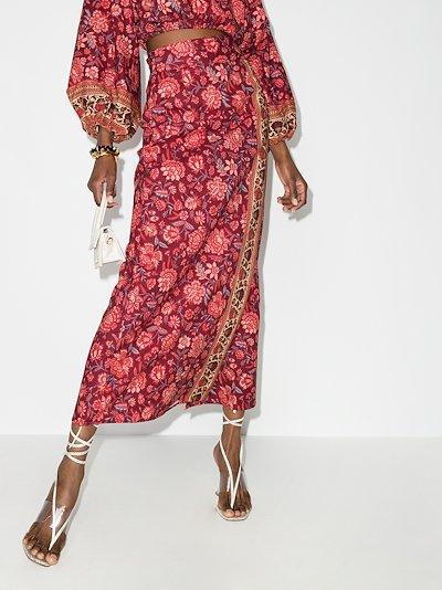 Petra Floral Wrap Skirt