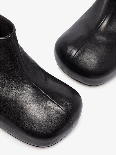 Black BV Bold 105 leather mules