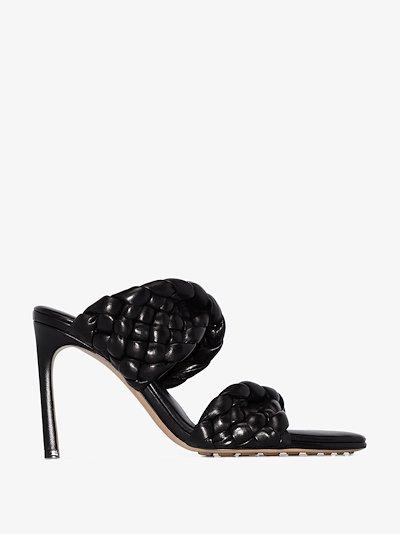 black BV Curve 95 leather sandals