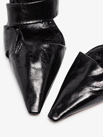 black BV Point 90 leather pumps
