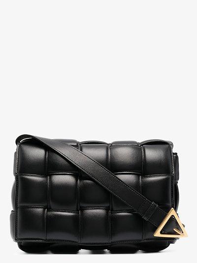 black Cassette leather shoulder bag