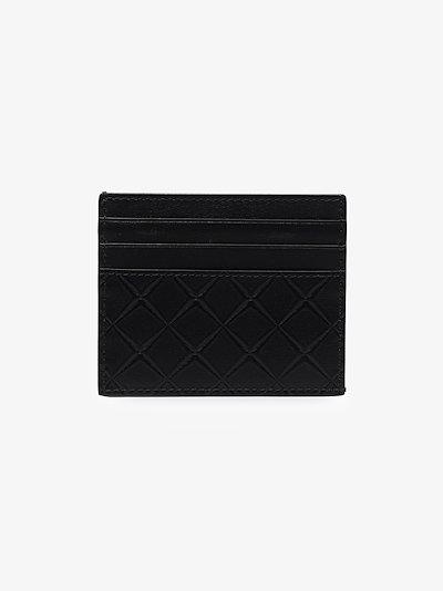 black embossed leather card holder