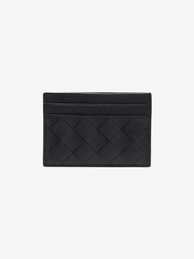 black Intrecciato leather card holder