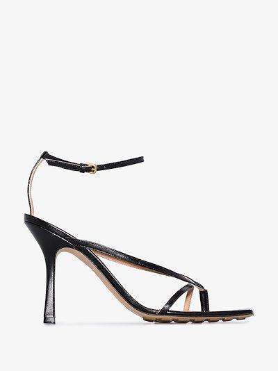 black Stretch 90 leather sandals