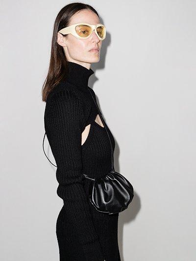 black The Bulb leather mini bag