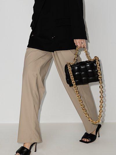 black The Chain Cassette leather shoulder bag