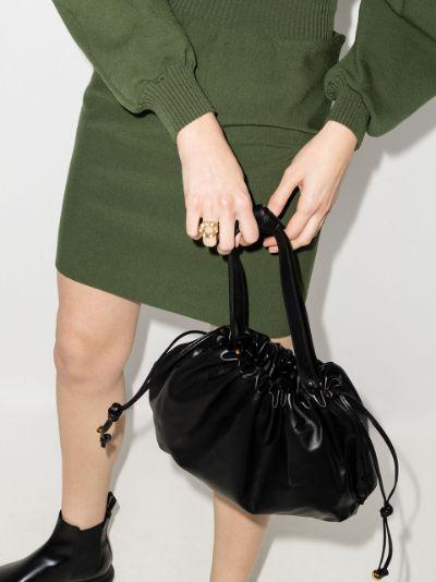 black The Medium Bulb leather shoulder bag