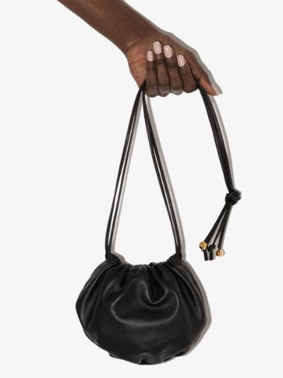 black The Mini Bulb leather mini bag