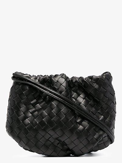 black The Mini Bulb leather shoulder bag