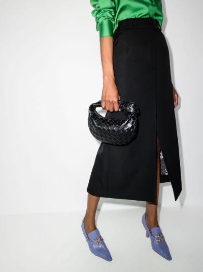 Black The Mini Jodie leather clutch bag