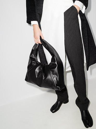 Black The Shoulder Pouch leather shoulder bag