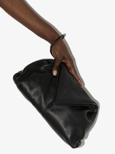 Black The Trine leather clutch bag