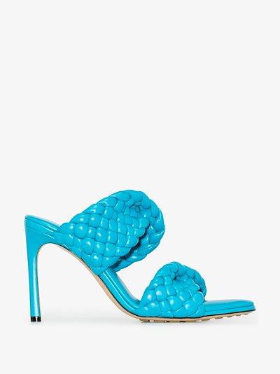 blue BV Curve 95 leather sandals