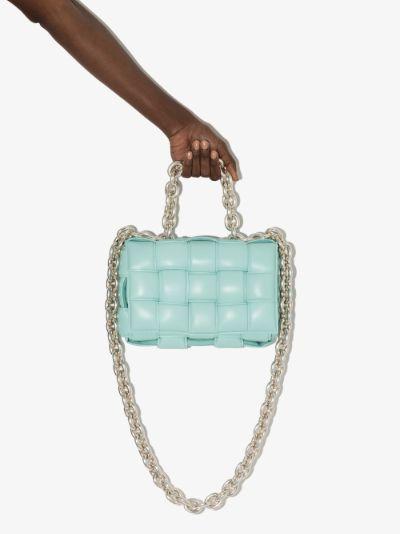 Blue The Chain Cassette Leather Shoulder Bag