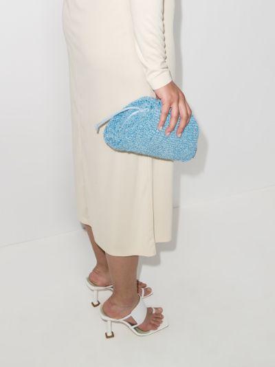 blue The Mini Pouch curly clutch bag