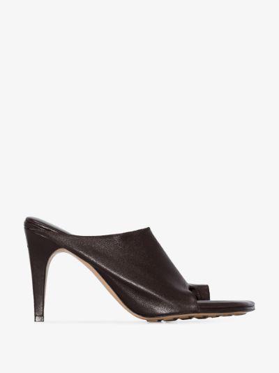 brown 90 toe loop leather sandals