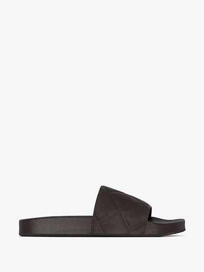 brown BV slider sandals