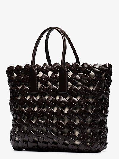 brown BV Window leather tote bag