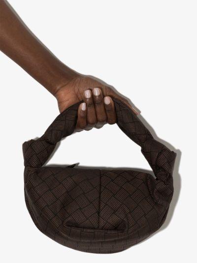 brown Double Knot top handle Mini bag