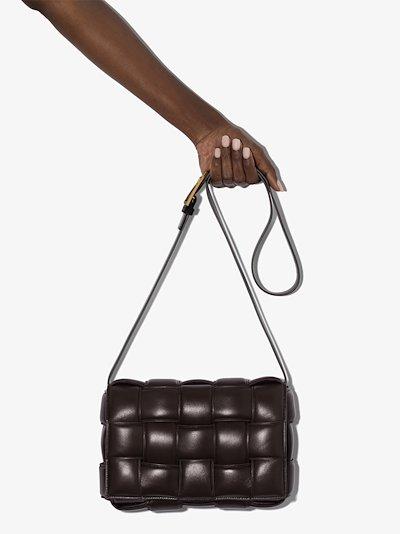brown Padded Cassette leather shoulder bag