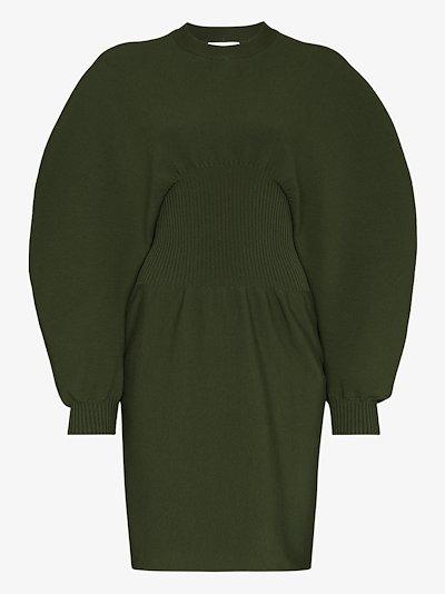 cocoon sleeve knit dress