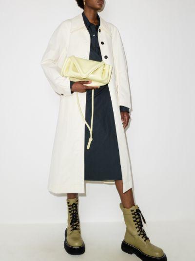 cream Beak leather cross body bag