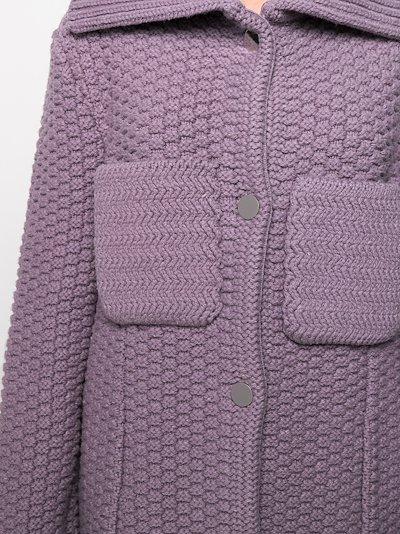 crochet knit coat