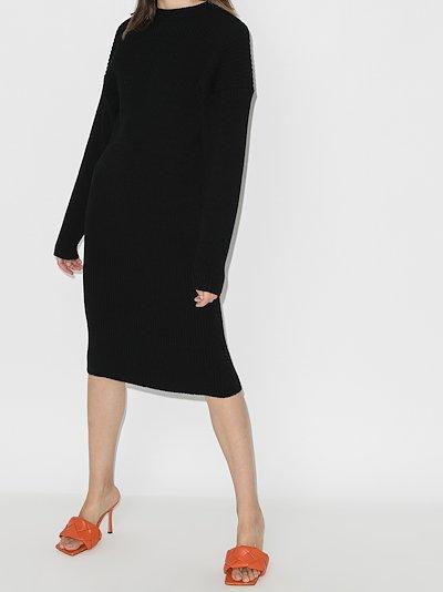 cutout wool sweater dress