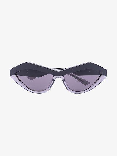 black angular cat eye sunglasses