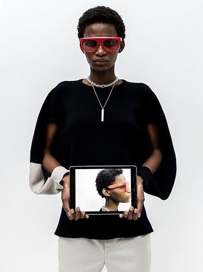 red square frame sunglasses