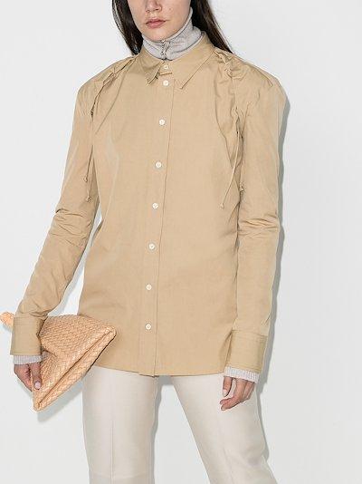 gathered shoulder shirt