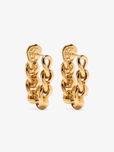 gold tone chain hoop earrings